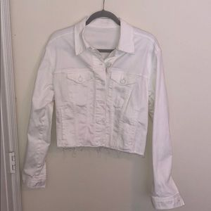 EXPRESS white denim jacket